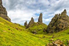 Storr,苏格兰,英国的老人 免版税库存图片