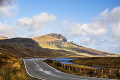 Storr -斯凯岛,苏格兰小岛  免版税图库摄影