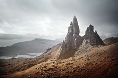 The Storr - Isle Of Skye Landscape In Scotland stock image