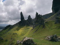 Storr landscape, isle of Skye, Scotland Royalty Free Stock Images
