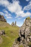 The Storr at Trotternish on the Isle of Skye. The Storr on the Jurassic coast at Trotternish on the Isle of Skye Royalty Free Stock Image