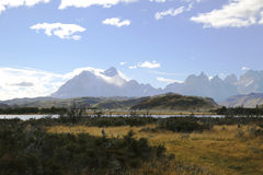 STorres del Paine nationalpark, Patagonia Arkivfoton