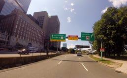 Storrow Drive heading to downtown Boston, MA Stock Photos