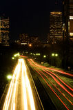 Storrow drive at night Royalty Free Stock Photos