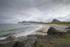 Storsandnes beach, Flakstadoy, Norway Royalty Free Stock Photos