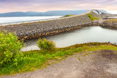 Storseisundet Bridge on the Atlantic Road in Norway Stock Images