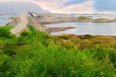 Storseisundet Bridge on the Atlantic Road in Norway Royalty Free Stock Photography