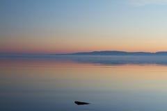 湖Storsjön 免版税库存图片