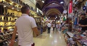Storslagen basar i Istanbul stock video