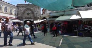 Storslagen basar i Istanbul arkivfilmer