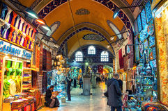 Storslagen basar i Istanbul, Turkiet Arkivbild