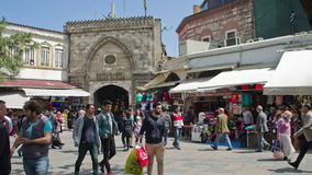 Storslagen basar i Istanbul, Turkiet arkivfilmer
