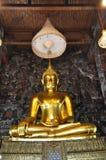 Storslagen Buddha guldväggmålning Royaltyfria Bilder
