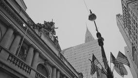 Storslagen central och den Chrysler byggnaden Royaltyfria Foton