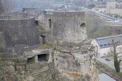 Luxembourg - casematesna Arkivfoto