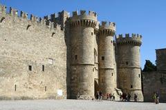 storslagen förlaga slott rhodes för stad Royaltyfri Bild