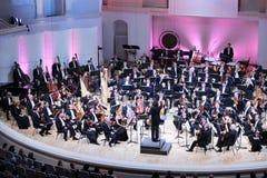 Storslagen festival för dropp av den ryska nationella orkesteren Royaltyfria Foton