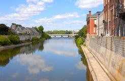 Storslagen flod Cambridge Galt Arkivbild