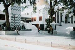 Storslagen fredag moské i stadsmannen, huvudstad av Maldiverna Royaltyfri Foto