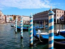 Storslagen gondol canale för Venedig arkitektur för storslagen kanal arkivbild