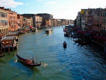 Storslagen gondol canale för Venedig arkitektur för storslagen kanal royaltyfri foto