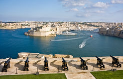 Storslagen hamn av Valletta, capital av M fotografering för bildbyråer