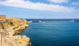 Storslagen hamn i Valletta Arkivfoto
