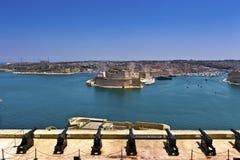 Storslagen hamn i Valletta, Malta. Arkivfoto