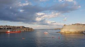Storslagen hamn Valeta Malta Royaltyfria Bilder