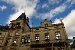 Storslagen hertiglig slott av Luxembourg Royaltyfria Foton