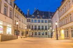 Storslagen hertiglig slott, Luxembourg arkivfoton