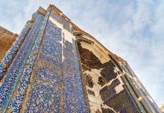 Storslagen ingång som slösar moskén i Tabriz Östligt Azerbajdzjan landskap iran arkivfoton