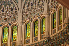 storslagen inre moské oman Royaltyfri Fotografi