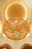storslagen inre zayed moskésheikh arkivfoton