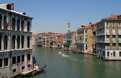 Storslagen kanal i Venedig Royaltyfri Fotografi
