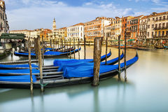 Storslagen kanal i Venedig, Italien royaltyfri foto