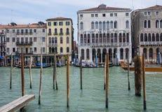 Storslagen kanal, Venedig Arkivfoton