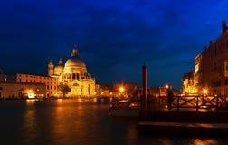 Storslagen kanal, Venedig Royaltyfria Bilder