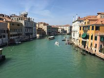 Storslagen kanal Venedig Royaltyfri Foto