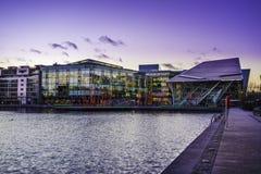 Storslagen kanalfyrkant, Dublin Arkivbild