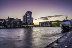 Storslagen kanalfyrkant, Dublin Arkivfoto