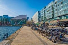 Storslagen kanalfyrkant, Dublin Fotografering för Bildbyråer