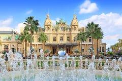 Storslagen kasino i Monte Carlo, Monaco Arkivbilder