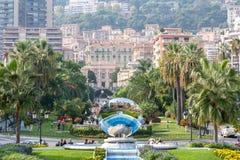 Storslagen kasino i Monte Carlo, Monaco Fotografering för Bildbyråer