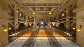 Storslagen korridor fotografering för bildbyråer