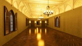 Storslagen korridor royaltyfri fotografi