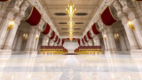 Storslagen korridor arkivfoton
