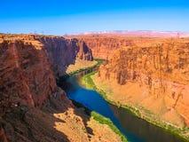 storslagen lakepowell för kanjon Arkivbilder