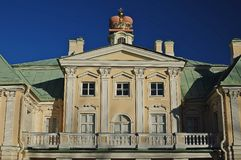 Storslagen Menshikov slott royaltyfria foton