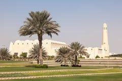 Storslagen moské i Doha, Qatar Arkivfoton